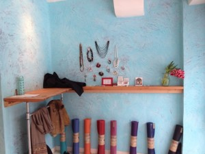 Promoting Local Businesses at Makara Studio and yes Natural Rubber Yoga Mats too.