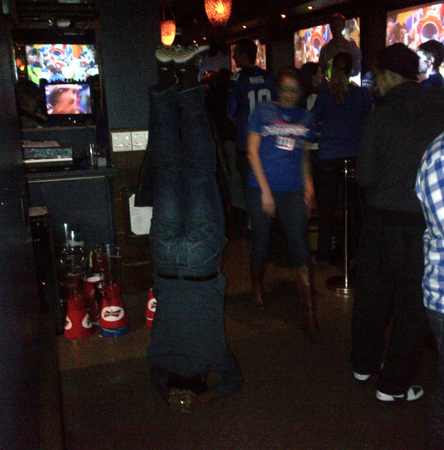 Headstand to celebrate the Giants Super Bowl Win