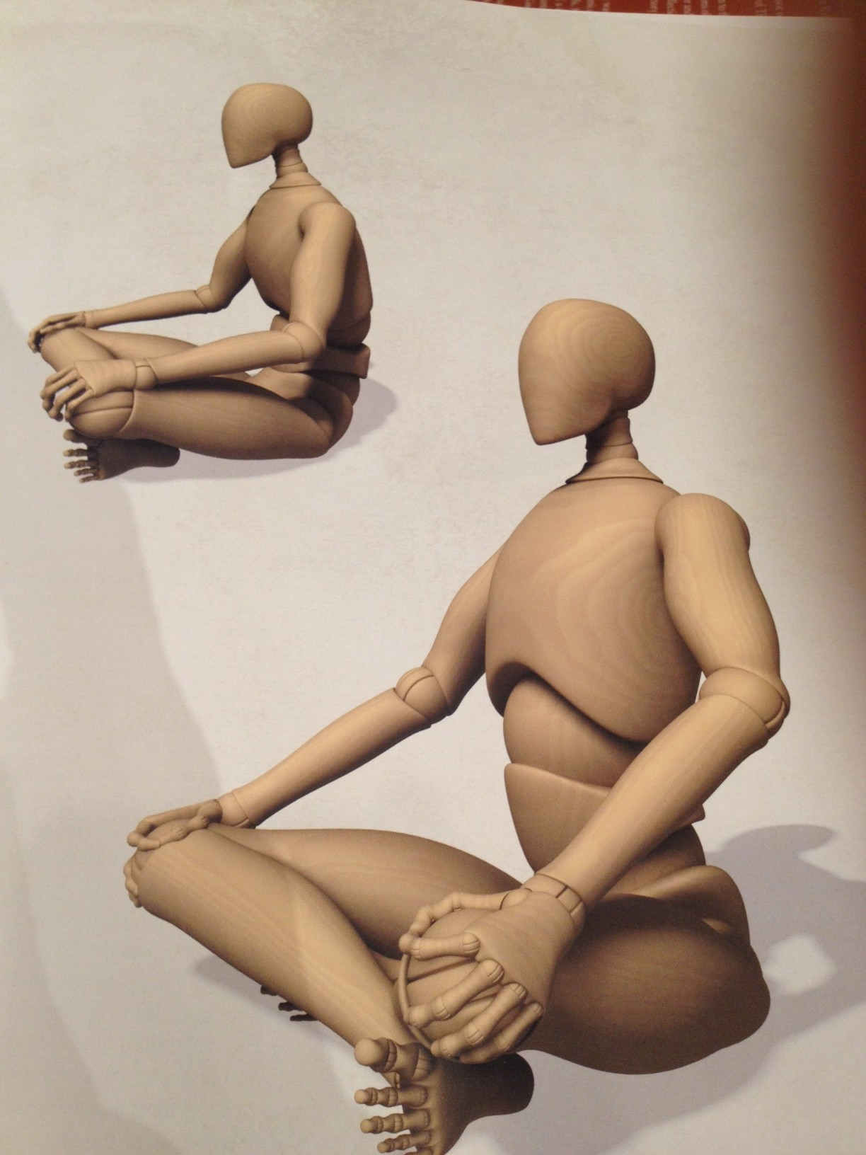 Sitting in SukhAsana, the robot contemplates its next action!