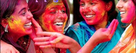 Holi - celebrating the festival of colors.